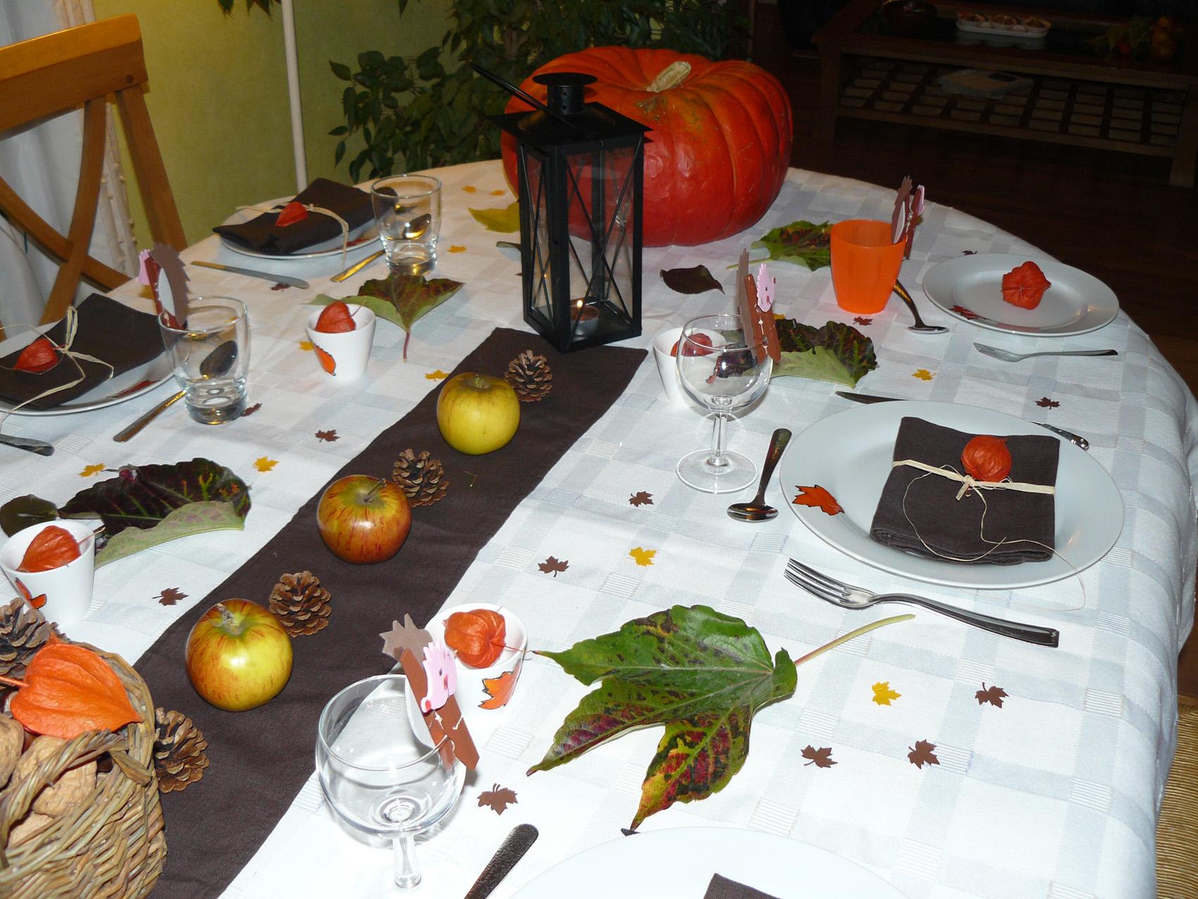 Table Decoration Automne