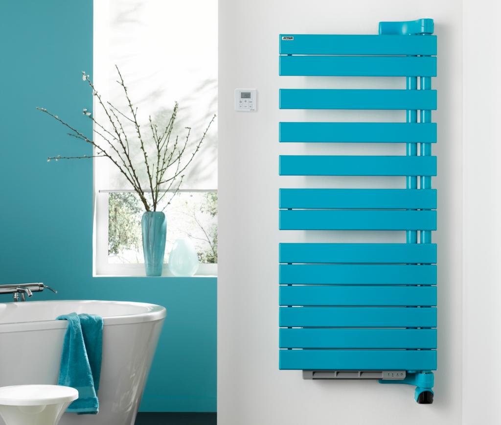 radiateur couleur turquoise