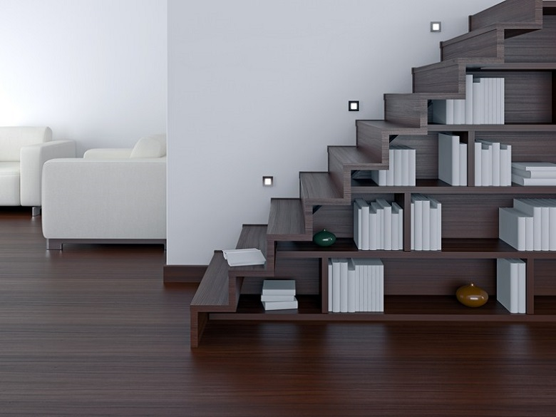 la biblioth que escalier la fois fonctionnelle et. Black Bedroom Furniture Sets. Home Design Ideas