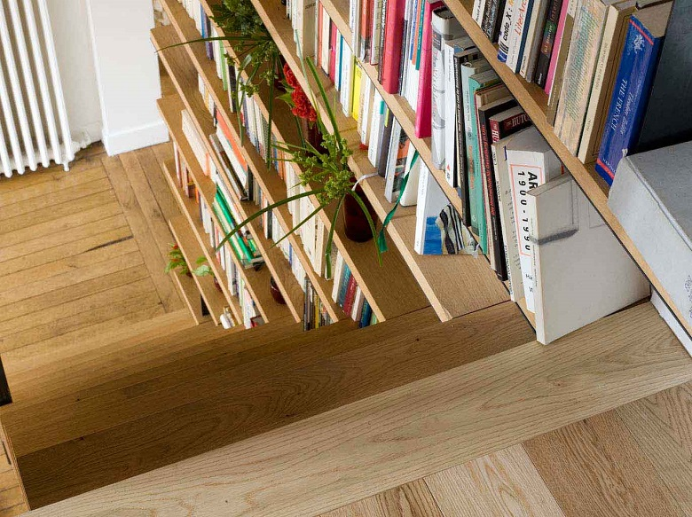 La Bibliothèque Escalier, À La Fois Fonctionnelle Et Culturelle