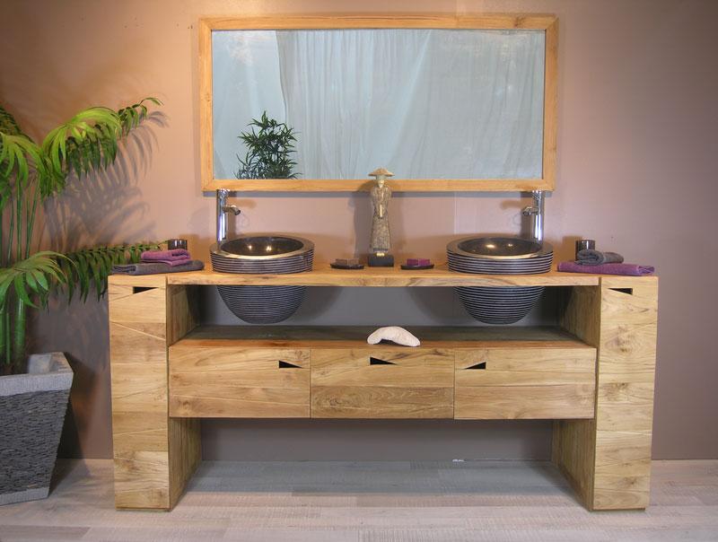 Meuble bois salle de bain comment choisir votre mobilier - Salle de bain originale et pas chere ...