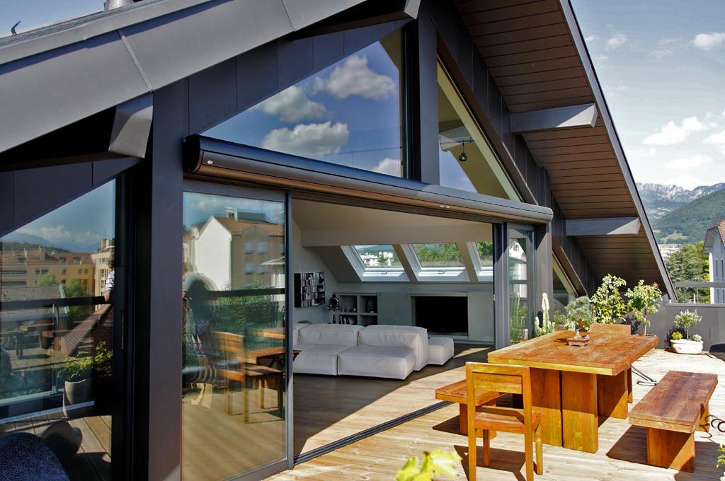 Baie Vitree Mur De Verre Galandage Effet Maison Architecte